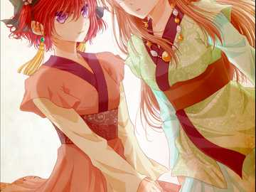 Yona and Yun, covert mision - Yun and Yona from Yona of the dawn undercover. believe it or not yun is a boy!