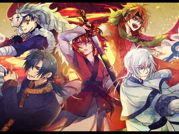 fire fight - dragons and Yona from yona of the dawn. defend my princess till the end!