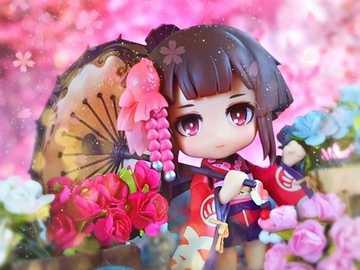 Una bella ragazza in una bella foto - Una bella ragazza e bei fiori
