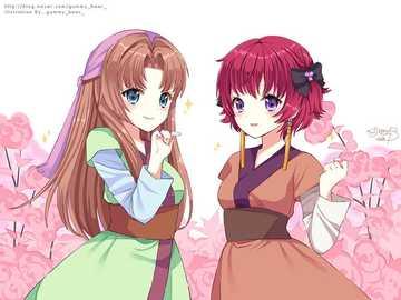 ragazze anime carine! - Yun e Yona da yona dell'alba! Yun è un ragazzo che ci crediate o no! è sotto copertura per un