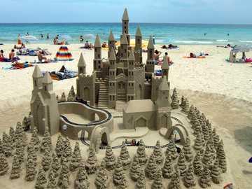Majorca --- - beach - sand sculptures - sea