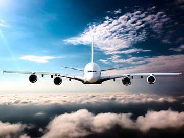 Boeing 747 above the clouds - Boeing 747 above the clouds