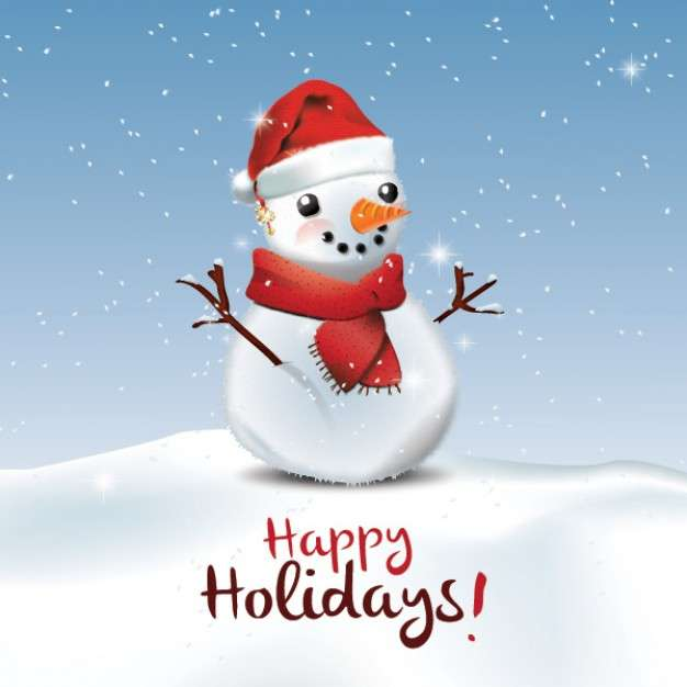 Happy Winter Holidays - We wish you a happy holiday! To rest and play a lot !!