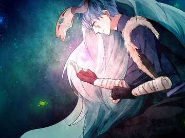 Mondlicht - Sin-ha der blaue Drache von yona der Morgendämmerung. Yona hat einmal gesagt, dass Sin-ha ihr Mondl