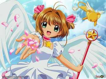 Sakura Card Captor - Sakura Kinomoto, uma garota de 10 anos que liberta accidentalmente um conjunto de cartas mágicas ch