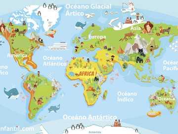 Mapa świata - Y} Mapa świata dla dzieci