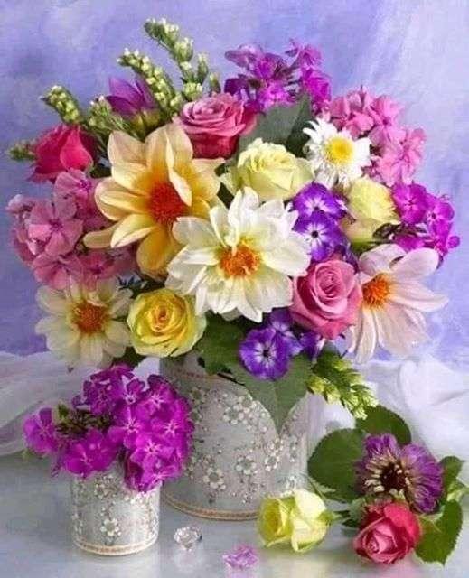 Blumenstrauß - Blumen - frische Blumen in einer Vase