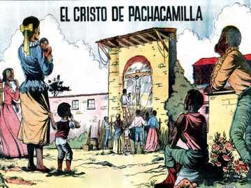 CHRIST DE PACHACAMILLA - IMAGE DE CHRIST CRUCIFIÉ PEINT PAR UN ANGOLA NOIR.