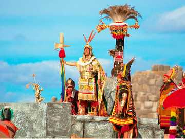 Inti Raymi - It is a patronal feast of the Incas and also the worship of the Inti God.