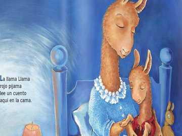 Le lama appelle des pyjamas rouges - Conte de la mère et du fils