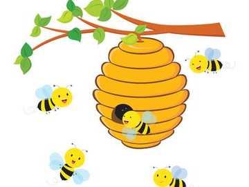 Abeille et leur maison - L'abeille domestique vit dans la ruche.