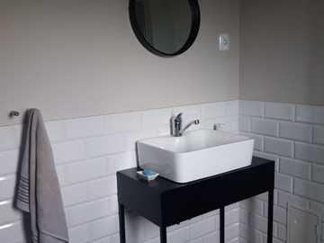 interior de baño bicolor - interior de baño bicolor