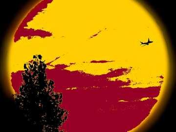 Avión al sol - Paso de un avión al sol