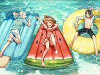 pool days! - ever wondered what the characters from yona would do in the summer if they liked now? go to the pool