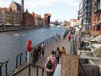 Vue de la grue à Gdansk