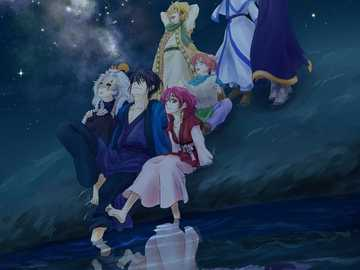 Dreaming of the past - all (and I mean ALL) the characters from yona of the dawn stargazing.