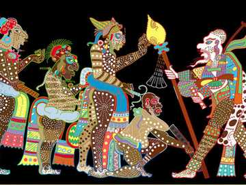 Maya puzzle - Mayan puzzle of Mexico