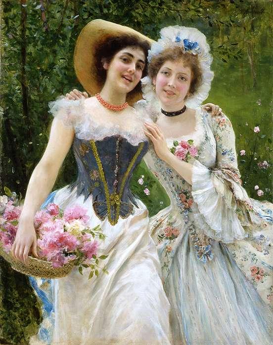Wiosenne kwiaty - Obraz Federico Andreottiego, który był włoskim malarzem i ilustratorem.