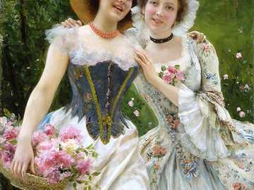 Spring blossoms - Painting by Federico Andreotti, who was an Italian painter and illustrator.