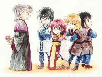 youth in koka kingdom - tiny yona characters! my heart cant take it! characters from akatsuki no yona