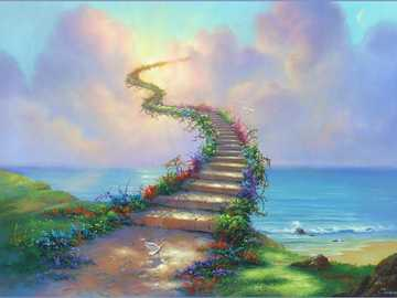 stairway to Heaven - Jim Warren is an American artist best known for book cover illustrations and surrealistic fantasy ar