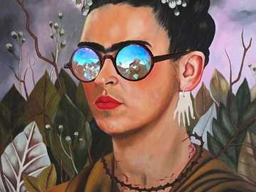 Frida Kahlo Self Portrait - portrait by the Mexican painter Frida Kahlo