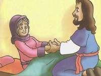 Jésus guérit la belle-mère de Peter - Il s'agit d'un casse-tête sur l'histoire de la belle-mère de Pedro. Jésus l'a