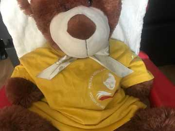 Bear friend - He is a friend of kindergarten at the Polish School in England. He goes to school every Saturday