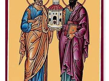 Apostoles - Imagen sobre dos personajes importantes dentro de la iglesia catolica