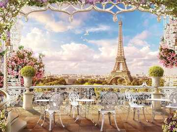 Panorama of Paris. - Puzzle: panorama of Paris.