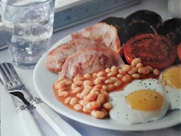 comida cocinada - Inglés completo saludable . Reino Unido