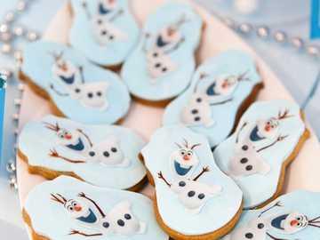 Świąteczne słodycze - Świąteczne ciasteczka - Olaf na pierniku
