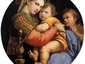 """Raffaello """"Madonna della seggiola"""" - Raffaello Sanzio ,uno dei grandi maestri del Rinascimento Italiano,ha dipinto bellissime Madonne col"""