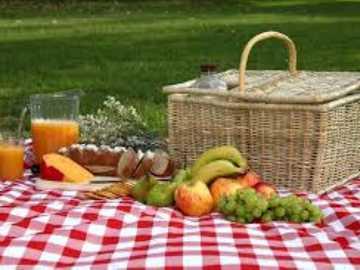 Picnic Puzzle - Mira la deliciosa comida para el picnic. Fue traído con la canasta para comer en la manta.