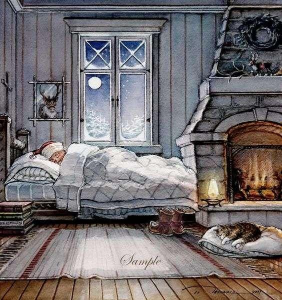 Noite de inverno, muito frio