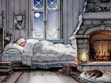 Winter night, very cold - One winter night, very cold