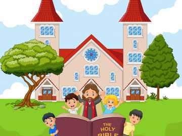 Tema: La Iglesia - Actividad para afianzar el tema de la iglesia en Religión.