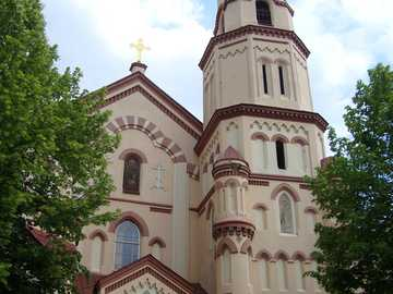 Lituania - Vilna - Uno de los edificios religiosos de Vilnius.