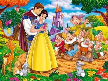 Blancanieves y los siete enanitos - Un cuento de hadas mundialmente conocido. Escrito por los hermanos Grimm y la cinematográfica fue d