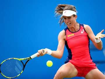 Johanna Konta - Johanna Konta jugando tenis