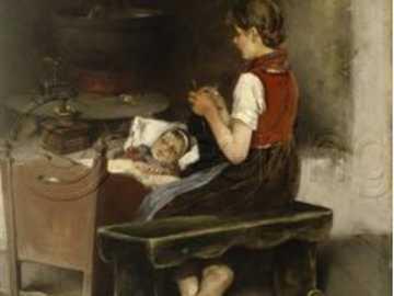 dívka se stará o nemocného - dívka se stará o nemocného