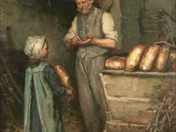 dívka na nákupu u pekaře - dívka na nákupu u pekaře