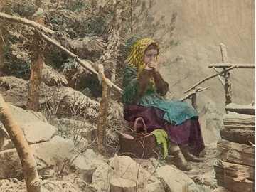 Dcerka dřevorubce ráno, kolem 1875, - Dcerka dřevorubce ráno, kolem 1875,