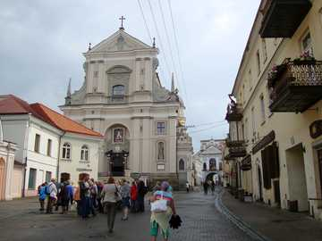 Vilnius - Lithuania - The church Teresa, erected in i. 1633 - 1650 at the expense of Chancellor Stefan Pac.