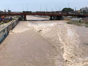 Rio Rimac before - this is the rimac river before the quarantine 2019
