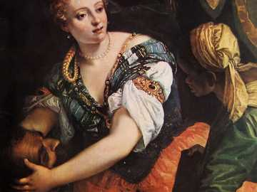 Paolo Caliari known as Veronese. - Judith with the head of Holofernes. Master of color, unparalleled in creating magnificent female por
