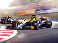 Piquet dépassant Senna - Piquet dépassant Senna