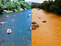 fiume contaminato