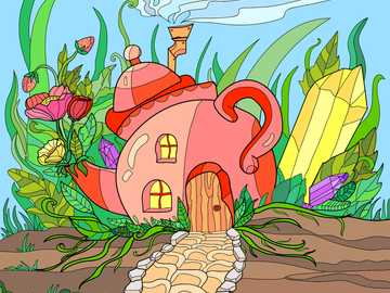 Tea Pot House - This is a very silly-looking house! Who in the world would want to live in a teapot?