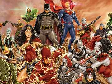 DC superbohaterów - Wszyscy superbohaterowie komiksów DC